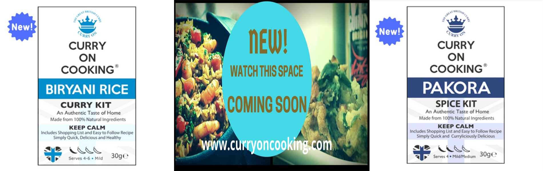 New Products from Curry On Cooking - Pakora and Biryani Rice