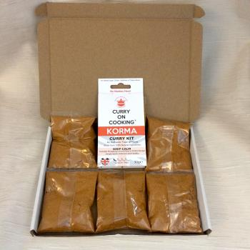 Curry On Cooking Korma curry kit and 5 spice sachets