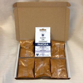 6 Pakora kits in a postal box